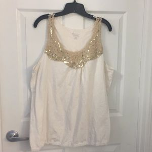 22/24 Gold Embellished  Tank by Lane Bryant